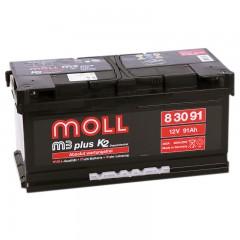 MOLL M3 Plus 91А/ч низкий о.п.